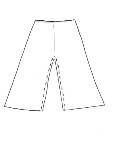 ...placez les coutures milieux face à face et assemblez l'intérieur des jambes....