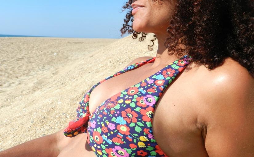 Mon bikini réversible enLycra/liberty