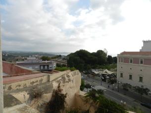 vue depuis le balcon...