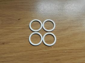 anneaux de réglage en métal blanc